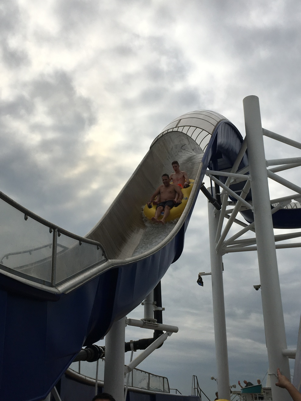 The double tube water slide