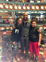 My children with the Entertainment director ...Dr E . He made the trip awesome guy really entertaining super cool!