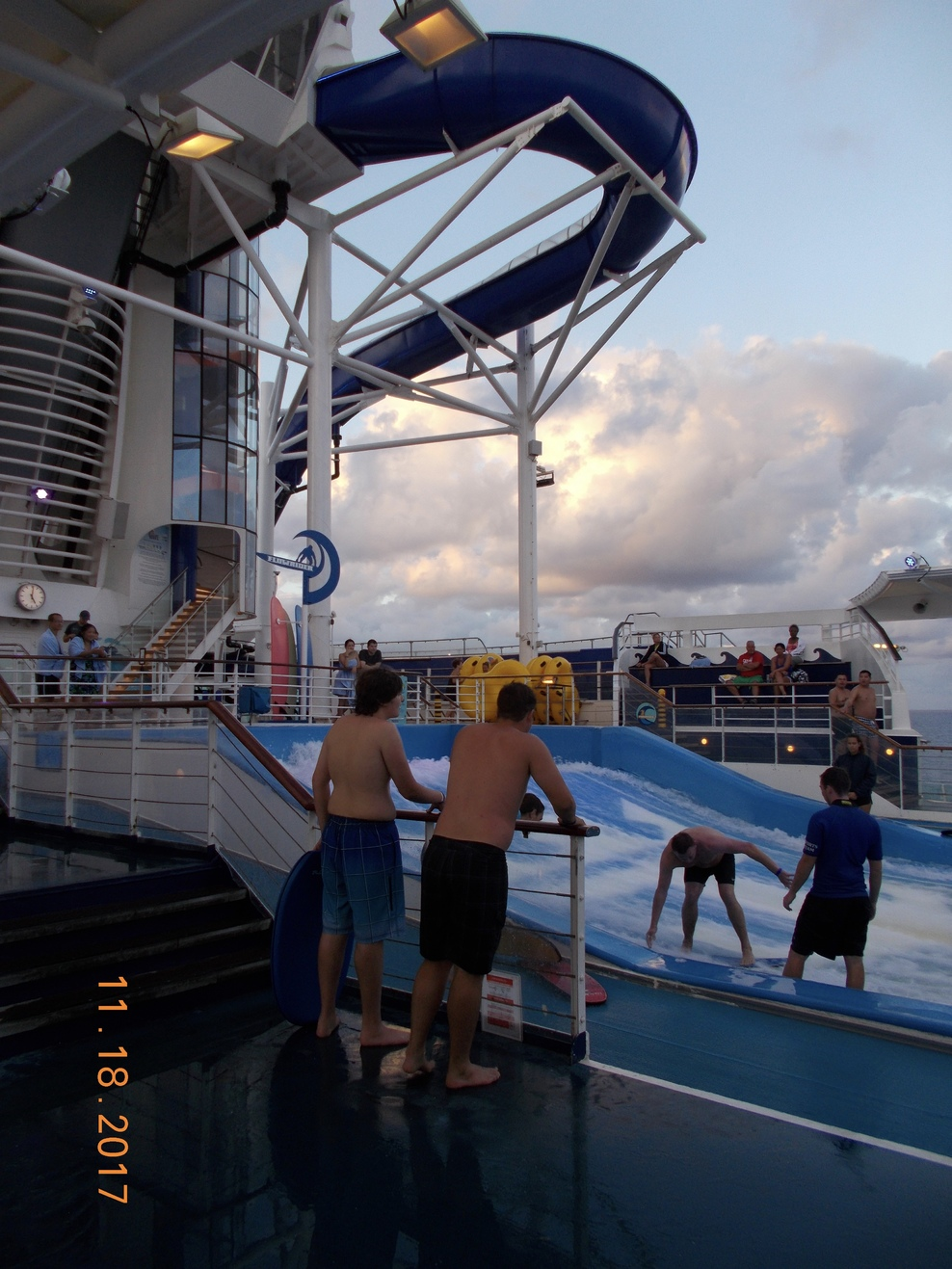 Deck 13 aft - Flow Rider & water slides