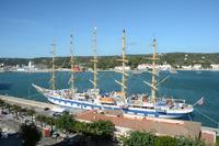 The Royal clipper docked in Menorca