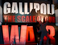 Gallipoli exhibition at Te Papa museum, free and very worthwhile.