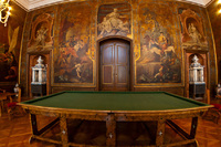Mortizburg Castle, this room is covered by painted leather
