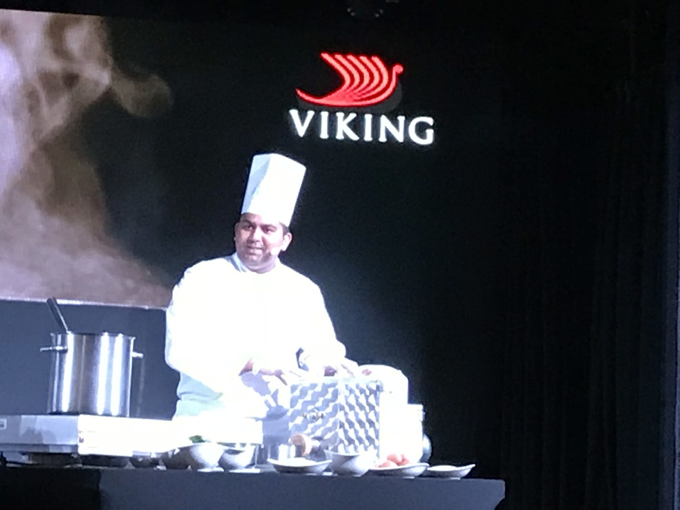 Chef food demonstration in Star Theater