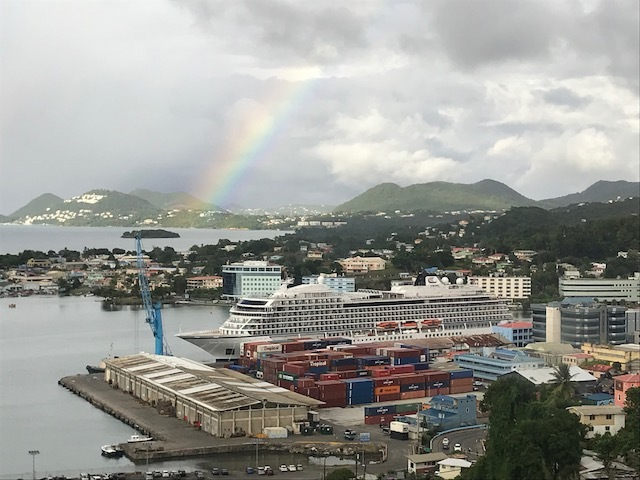 St Lucia Viking Sky with Rainbow