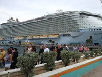 Allure of the Seas in port at Nassau, Bahamas.