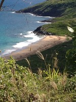 The beautiful coast of St. Kitts on the Atlantic side.