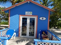 Our tiny bungalow on Princess Cays.