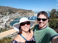 Catalina - viewpoint photo while driving around in a golf cart.  LOVELY isl