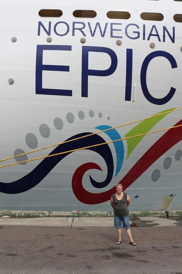 The Epic docked in the Bahamas