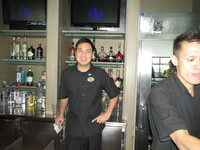 Paul Soro (aka Tom) Bartender Extraordinaire at the Shanghai Bar - Norwegia