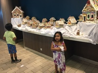 The staff created a gingerbread village!!