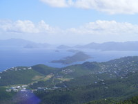 View from the top of mountain, St. Thomas USVI