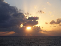 Sunset on the Caribbean Sea