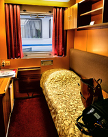 My single cabin at the bow on the top deck.