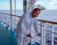 This crew member ensured that the ship's paint was free of chips and ru
