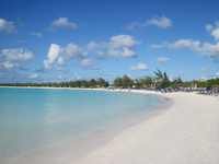 The beach at Half Moon Cay
