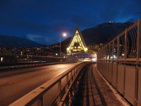 Tromso Cathedral from bridge