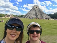 Great shore excursion in Mexico - Chitchen Itza - we could hear the tour pe