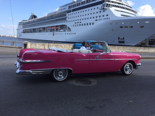 Cruise ship in Havana