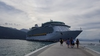 Navigator of the Seas docked in Labadee
