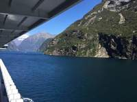 Going through Milford Sound NZ