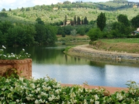 Serene riverside view at Villa La Massa outside Florence, Italy