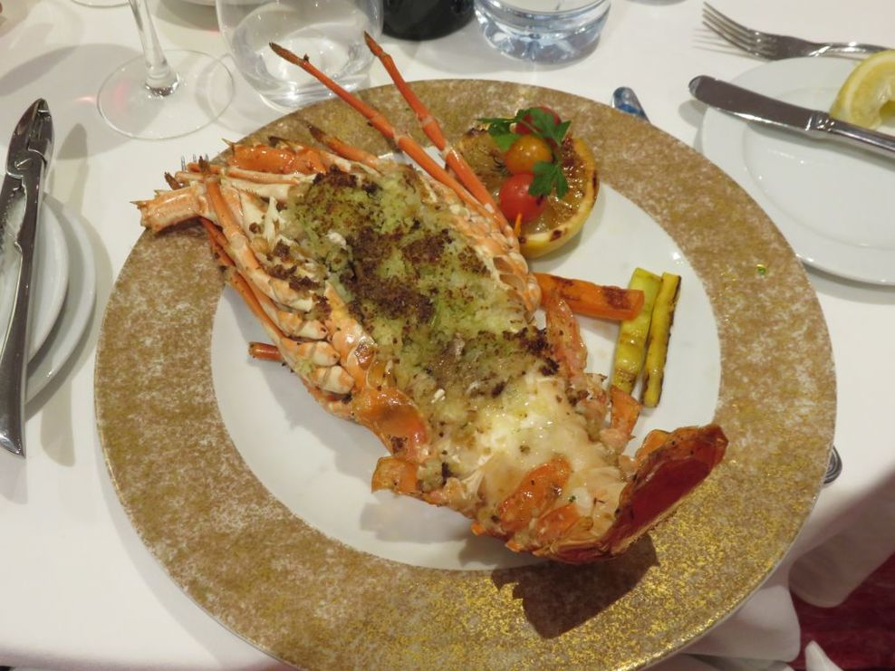 Delicious Mauritian lobster - only E15 as a Costa Club member (50% discount