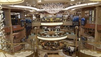 This is the Piazza, the hub of the ship.