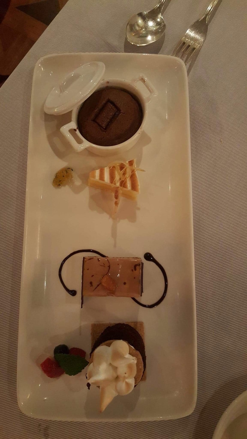 A dessert sampler from The Crown Grill