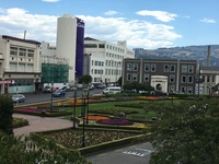 Train station gardens and Cadbury chocolate factory in Dunedin