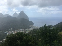 St. Lucia - the Pitons.