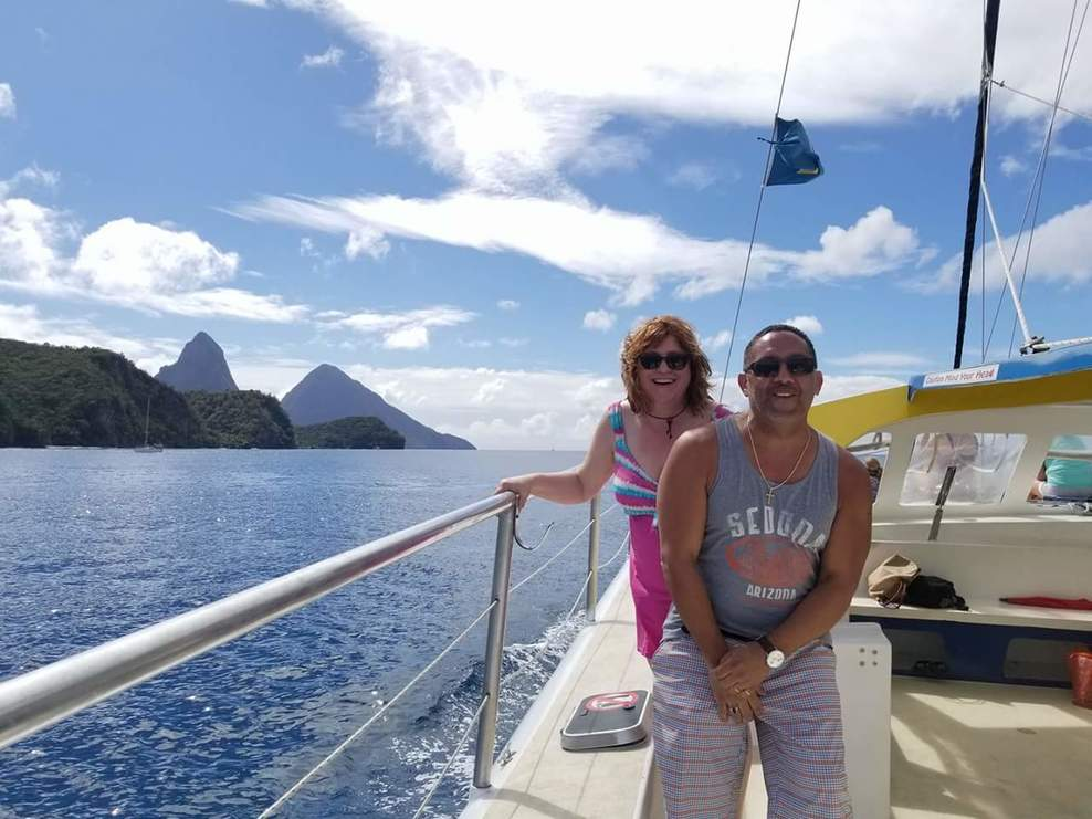 Catamaran sail - St. Lucia, to Ladera Resort