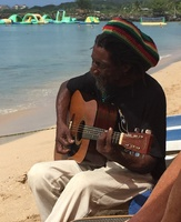 Being serenaded in St Lucia