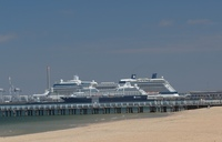 Azamara Journey alongside Celebrity Solstice at Melbourne on February 5th.