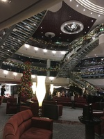 Main reception decorated for Christmas