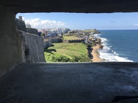 Coastline of San Juan, Puerto Rico, from Castillo de San Cristobal toward S
