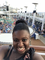 Another pic of me on deck 15 near the pool/slides.