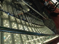 Beautiful stairs in the Atrium.  3 stories of the beautiful Swarovski cryst