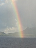 Rainbow when arriving to island