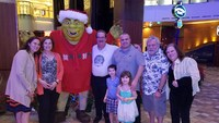 Shrek greeting us on board the Allure of the Seas.
