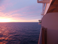 Sunrise first day at sea
