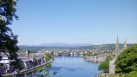 Looking down on Inverness from Courthouse