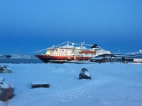 MS Polarlys in port in Kirkenes