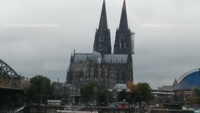 cologne cathedral going to see it by ship What is this a photo of?  What is
