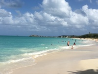 The beach in Antigua that we so enjoyed.  If you get a. Ha CE you must go.