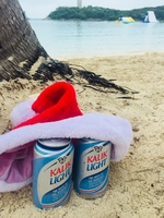 Christmas Eve, Blue Lagoon Island. Beers on island were really expensive, $