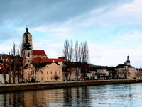 Cruising past quaint villages on the Danube