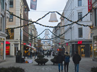 Christmas Street Decorations Oslo Norway