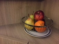 I loved the custom fruit basket in the staterooms