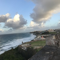view from a fortress in San Juan